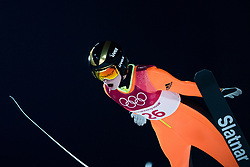 February 12, 2018 - Pyeongchang, SOUTH KOREA - 180212 Nika Kriznar of Slovenia competes in Ski Jumping, Women's Normal Hill Individual Final, during day three of the 2018 Winter Olympics on February 12, 2018 in Pyeongchang..Photo: Joel Marklund / BILDBYRN / kod JM / 87619 (Credit Image: © Joel Marklund/Bildbyran via ZUMA Press)