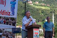 Prof. Dr. Musa Genç speaks in Kuşköy, 'bird village' at the annual bird/whistling language festival.