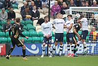 Preston North End's wall prevents Millwall's Jed Wallace free kick<br /> <br /> Photographer Mick Walker/CameraSport<br /> <br /> The EFL Sky Bet Championship - Preston North End v Millwall - Saturday 23rd September 2017 - Deepdale Stadium - Preston<br /> <br /> World Copyright © 2017 CameraSport. All rights reserved. 43 Linden Ave. Countesthorpe. Leicester. England. LE8 5PG - Tel: +44 (0) 116 277 4147 - admin@camerasport.com - www.camerasport.com