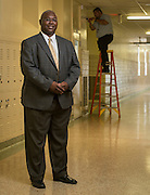 Alarm communications manager Byron Thurmond poses for a photograph, October 4, 2013. Thurmond was named Houston ISD Employee of the Month for October 2013.
