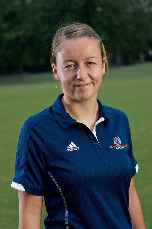 Aug 18, 2012; Morrow, GA, USA; Clayton State University's women's soccer player Pearl Slattery during team portraits. Photo by Kevin Liles/kdlphoto.com