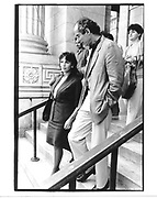 Claire Bloom and Philip Roth. Memorial service. NY Public Library.  NY. 1989. © Copyright Photograph by Dafydd Jones 66 Stockwell Park Rd. London SW9 0DA Tel 020 7733 0108 www.dafjones.com