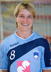 Portrait of Vesna Pus of Slovenian Handball Women National Team, on June 3, 2009, in Arena Kodeljevo, Ljubljana, Slovenia. (Photo by Vid Ponikvar / Sportida)