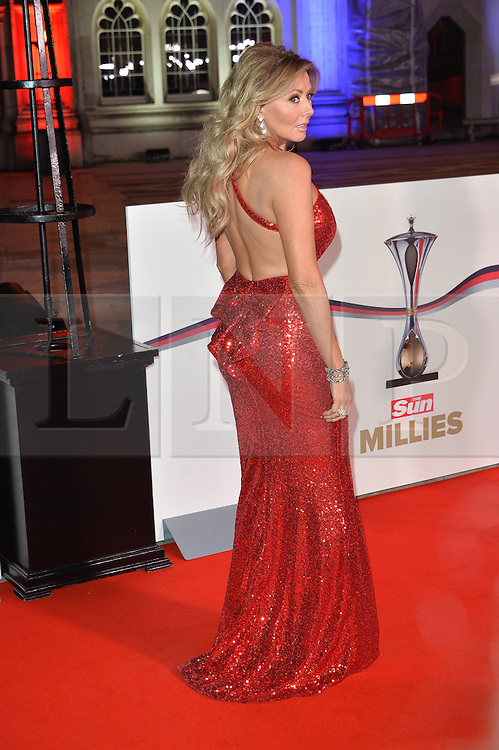© Licensed to London News Pictures. 14/12/2016. CAROL VORDERMAN attends The Sun newspaper Millies Military Awards 2016 at Guildhall <br />