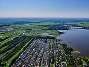 Nederland, Noord-Holland, gemeente Wijdemeren, 02-09-2020; Loosdrecht, Caravanpark van de Wetering, stacaravans en chalets. Loosdrechtse Plassen.<br /> <br /> luchtfoto (toeslag op standard tarieven);<br /> aerial photo (additional fee required);<br /> copyright foto/photo Siebe Swart