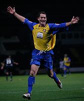 Photo: Steve Bond.<br />Notts County v Hereford United. Coca Cola League 2. 02/10/2007. Steve Guinan celebrates