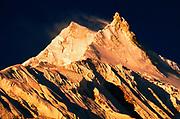 Manaslu (8156m) at dawn, from Lho Sama Gaon region, Manaslu Himal, Nepal