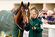 Ride And Prejudice ridden by Hector Crouch and trained by Julia Fielden in the CB Protection Novice Median Auction Stakes.  - Ryan Hiscott/JMP - 06/05/2019 - PR - Bath Racecourse- Bath, England - Kids Takeover Day - Monday 6th April 2019