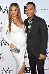 Arrivals at The Daily Front Row's 4th Annual Fashion Los Angeles Awards. 08 Apr 2018 Pictured: Chrissy Teigen; John Legend. Photo credit: Leon Brezer / Fashion Media / MEGA TheMegaAgency.com +1 888 505 6342