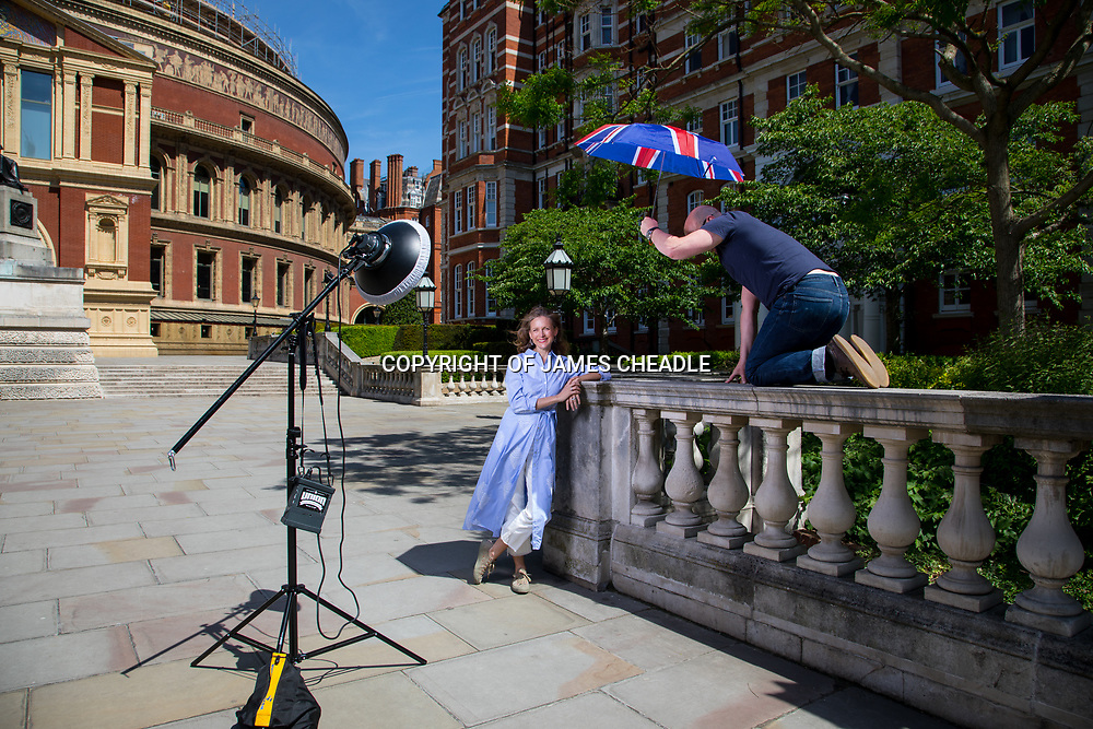 Katie Derham, photographed outside the Royal Albert Hall for the BBC Music Proms cover 2018 Katie Derham