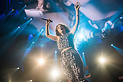 Lorde performing at the iHeartRadio Music Festival at the MGM Grand Arena in Las Vegas, Nevada on Sepembter 20, 2014.