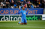 Peterborough United forward Ivan Toney (17) celebrates his opening goal 1-0 Peterborough during the EFL Sky Bet League 1 match between Peterborough United and Oxford United at London Road, Peterborough, England on 8 December 2018.