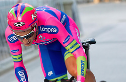 Adriano Malori (ITA) of Lampre competes during Stage 1of  cycling race 20th Tour de Slovenie 2013 - Time Trial 8,8 km in Ljubljana,  on June 12, 2013 in Slovenia. (Photo By Vid Ponikvar / Sportida)