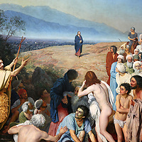 Europe, Russia, Moscow. Portion of Appearance of Christ to the People, painting by Russian artist Alexander Andreyevich Ivanov at the Tretyakov Gallery in Moscow.