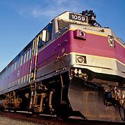 Locomotive for the MBTA commuter trains in Boston, Massachusetts