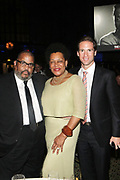 NEW YORK, NEW YORK-JUNE 4: (L-R) Photographic Artist Dawoud Bey, Peter W. Kunhardt, Jr., Executive Director, Gordon Parks Foundation and Photographic Artist Carrie Mae Weems attends the 2019 Gordon Parks Foundation Awards Dinner and Auction Inside celebrating the Arts & Social Justice held at Cipriani 42nd Street on June 4, 2019 in New York City. (Photo by Terrence Jennings/terrencejennings.com)