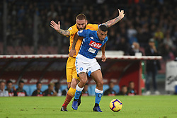 October 28, 2018 - Naples, Naples, Italy - Daniele De Rossi of AS Roma competes for the ball with Allan of SSC Napoli during the Serie A TIM match between SSC Napoli and AS Roma at Stadio San Paolo Naples Italy on 28 October 2018. (Credit Image: © Franco Romano/NurPhoto via ZUMA Press)