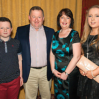 Donal Moloney (Chairman of Clare Limousine Breeders Society) with his family Daniel, Alice and Rachel