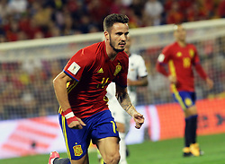 Saul Niguez, Spain in action during the World Cup qualification match between Spain vs Albania in Alicante, Spain, on October 06, 2017. Photo by Giuliano Bevilacqua/ABACAPRESS.COM