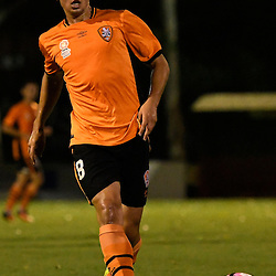 BRISBANE, AUSTRALIA - DECEMBER 22: Nathan Konstandopoulos of the Roar passes the ball during the round 4 Foxtel National Youth League match between the Brisbane Roar and Melbourne City at AJ Kelly Field on December 22, 2016 in Brisbane, Australia. (Photo by Patrick Kearney/Brisbane Roar)