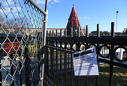 The National Christmas Tree is currently closed to the public due to a partial shutdown of the federal government, on December 24, 2018 in Washington, DC. Parts of the U.S. government shut down on Saturday for the third time this year after a bipartisan spending deal collapsed over President Donald Trump's demands for more money to build a wall along the U.S.-Mexico border. Photo by Olivier Douliery/ABACAPRESS.COM