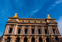 Exterior of the Paris Opera, Paris, France.