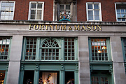 Exterior of Fortnum & Mason, the famous high end department store. Jermyn Street, London