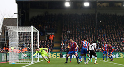 Liverpool's Sadio Mane puts the ball past Crystal Palace goalkeeper Crystal Palace goalkeeper Wayne Hennessey but the goal is ruled out