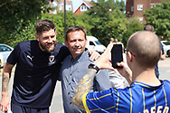 AFC Wimbledon midfielder Anthony Wordsworth (40) arriving during the EFL Sky Bet League 1 match between AFC Wimbledon and Coventry City at the Cherry Red Records Stadium, Kingston, England on 11 August 2018.