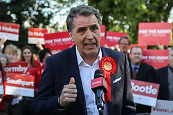 © Licensed to London News Pictures. 05/05/2017. Liverpool, UK. Steve Rotherham, the newly elected metro mayor of Liverpool, at an event with Labour members and the media in Liverpool following the results of the local and Mayoral elections.  Photo credit : Ian Hinchliffe/LNP