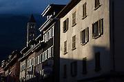 Airolo in the Italian part of Switzerland - Kanton Tessin - Ticino - Switzerland