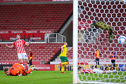 Teemu Pukki of Norwich City celebrates his goal - Mandatory by-line: Nick Browning/JMP - 24/11/2020 - FOOTBALL - Bet365 Stadium - Stoke-on-Trent, England - Stoke City v Norwich City - Sky Bet Championship