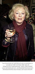 The COUNTESS OF DARTMOUTH at an exhibition in London on 25th October 2001.	OTL 43