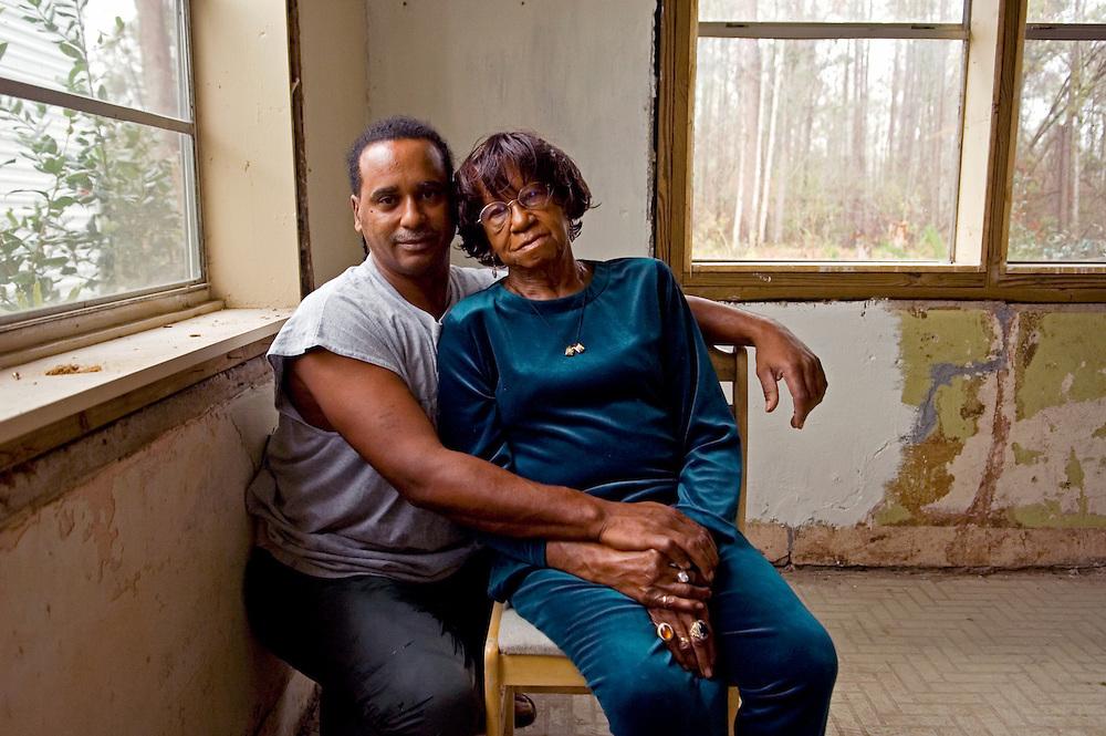 Geneva Sylvas and her son Peter, survivors of Hurricane Katrina.