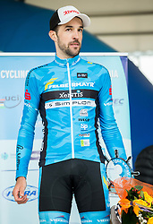 Second placed Markus Eibegger of Team Felbermayr Simplon Wels during trophy ceremony after the UCI Class 1.2 professional race 3rd Grand Prix Izola, on February 28, 2016 in Izola / Isola, Slovenia. Photo by Vid Ponikvar / Sportida