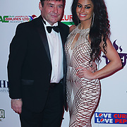 Battersea Evolution London, England, UK, 27th November 2017. Jimmy White, Jade Slusarczyk attend the British Curry Awards, London, UK.
