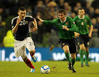 Football - Carling Nations Cup - Scotland v Northern Ireland<br /> Robert Snodgrass and Pat McCourt in action during the Scotland v Northern Ireland Carling Nations Cup at The Aviva Stadium