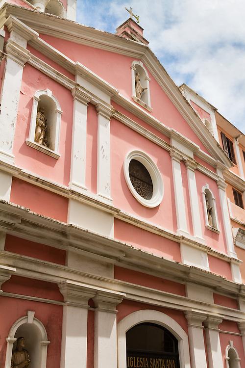 This beautiful church, Iglesia Santa Ana, graces Calle Tetuan in Old San Juan, Puerto Rico.