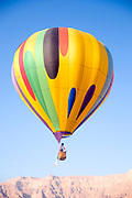 Hot Air Balloon show photographed in Israel, Timna Valley