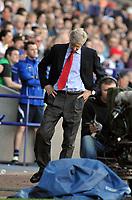 Reebok Stadium Bolton Wanderers v Arsenal (2-1) 24/04/2011 Premier League<br />Arsenal  manager Arsene Wenger  after final whistle <br />Photo: Roger Parker Fotosports International