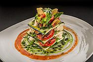 Tomato Ginger Marinara, Cashew Ricotta Cheese, Asian Herb Pesto, Shitake, Raw Chili Sambal