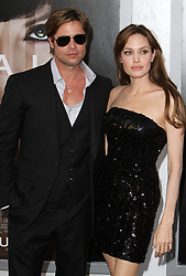 "File Photo: 19 July 2010 - Hollywood, California - Brad Pitt and Angelina Jolie. ""Salt"" Los Angeles Premiere held at Grauman's Chinese Theatre. Photo Credit: Charles Harris/AdMedia"