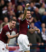 The William Hill Scottish FA Cup Final 2012 Hibernian Football Club v Heart Of Midlothian Football Club..19-05-12...Hearts Ryan McGowan celebrates scoring  for Hearts to make it 4-1        during the William Hill Scottish FA Cup Final 2012 between (SPL) Scottish Premier League clubs Hibernian FC and Heart Of Midlothian FC. It's the first all Edinburgh Final since 1986 which Hearts won 3-1. Hearts bid to win the trophy since their last victory in 2006, and Hibs aim to win the Scottish Cup for the first time since 1902....At The Scottish National Stadium, Hampden Park, Glasgow...Picture Mark Davison/ ProLens PhotoAgency/ PLPA.Saturday 19th May 2012.