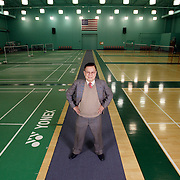 ORANGE, CA, January 3, 2008: Top badminton players, including past Olympic gold medalists, train at the Orange County Badminton Club in Orange, California. Don Chew is the founder and pays the best players stipends, provides equipment and covers much of their travel expenses to compete internationally.