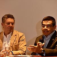 """TOLUCA, México.- (Marzo 28, 2019).- Enrique Jacob Rocha, Secretario de Desarrollo Económico y Alejandro Villanueva, Director de Educación y Emprendimiento de """"Fundación Televisa"""" en conferencia de prensa presentaron la convocatoria """"POSIBLE 2019"""". Agencia MVT / Crisanta Espinosa."""