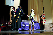 SHOT 5/10/15 3:13:55 PM - Naropa University Spring 2015 Commencement ceremonies at Macky Auditorium in Boulder, Co. Sunday. Parker J. Palmer, a world-renowned author and activist known for his work in education and social change, delivered the commencement speech to more than 300 graduate and undergraduate students along with Naropa faculty and graduate's family members. Naropa University is a private liberal arts college in Boulder, Colorado founded in 1974 by Tibetan Buddhist teacher and Oxford University scholar Chögyam Trungpa. (Photo by Marc Piscotty / © 2014)