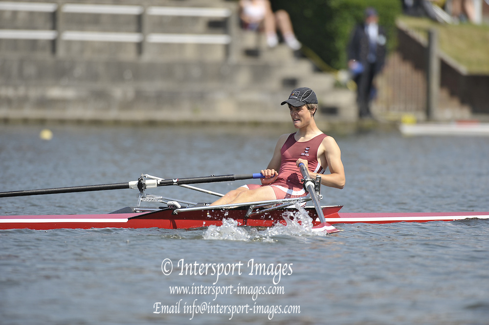 Gent, BELGIUM,  JM1X, Levi van de VELDE,  competing at the International Belgian Rowing Championships, Sunday 10/05/2009, [Mandatory Credit. Peter Spurrier/Intersport Images]
