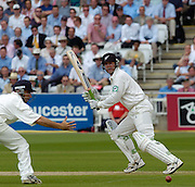 Lord's London, 1st NPower Test   England v New Zealand.  Mark Richardson, clips the ball past Nasser HUSSIAN's out stretched hand, 20/05/2004 <br /> [Credit Peter Spurrier Intersport Images]