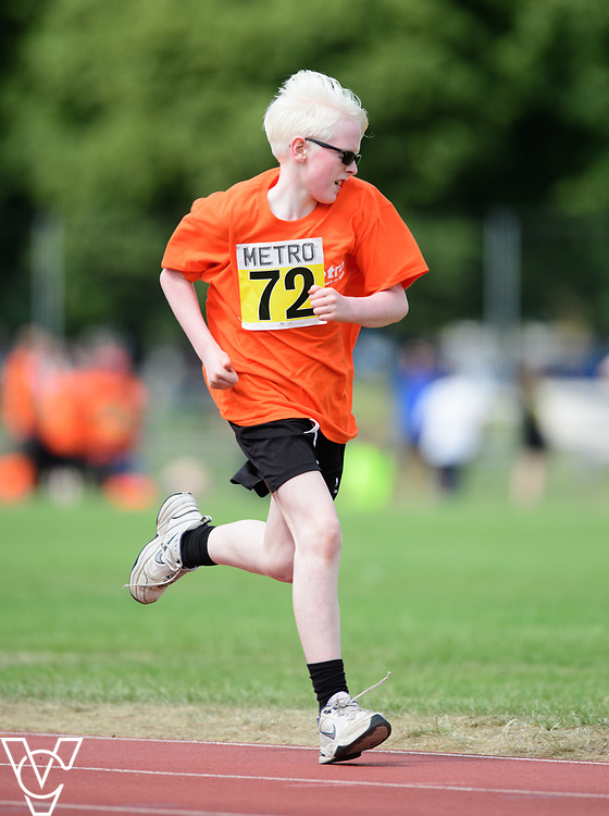 Event: 400 meters<br /> Competitors, from left: Eoin Quigley<br /> <br /> Metro Blind Sport's 42nd Athletics Open, held at Mile End Stadium, Tower Hamlets, London.<br /> <br /> Picture: Chris Vaughan Photography for Metro Blind Sports<br /> Date: June 16, 2018