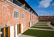 Luxury housing development of Iken View in former industrial buildings at Snape Maltings, Suffolk, England